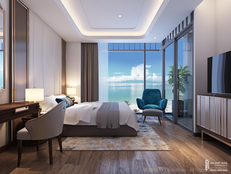 Nhà mẫu căn hộ 2 phòng ngủ tại Condotel Oyster Gành Hào Đường 82 Trần Phú chủ đầu tư Vietpearl Group