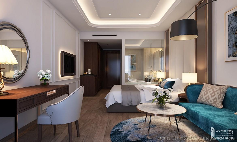 Nhà mẫu căn hộ 1 phòng ngủ tại Condotel Oyster Gành Hào Đường 82 Trần Phú chủ đầu tư Vietpearl Group