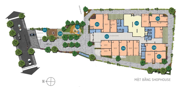 Mặt bằng dự án căn hộ chung cư Saigon Asiana Quận 6 Đường Nguyễn Văn Luông chủ đầu tư Gotec Land