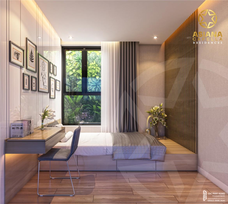 Thiết kế phòng ngủ 2 nhà mẫu căn hộ chung cư SaiGon Asiana quận 6 diện tích 65m2 thiết kế 2 phòng ngủ