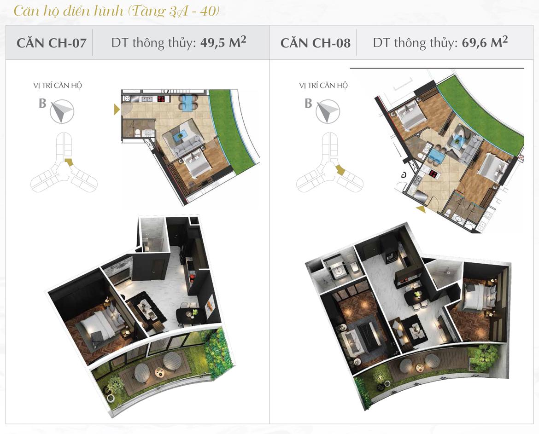 Thiết kế chi tiết căn hộ số 07 và 08 dự án Sunshine Diamond River Quận 7 – Liên hệ 0973.098.890 báo giá căn này