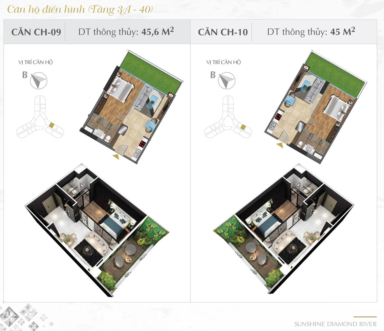 Thiết kế chi tiết căn hộ số 09 và 10 dự án Sunshine Diamond River Quận 7 – Liên hệ 0973.098.890 báo giá căn này