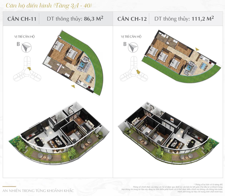 Thiết kế chi tiết căn hộ số 11 và 12 dự án Sunshine Diamond River Quận 7 – Liên hệ 0973.098.890 báo giá căn này
