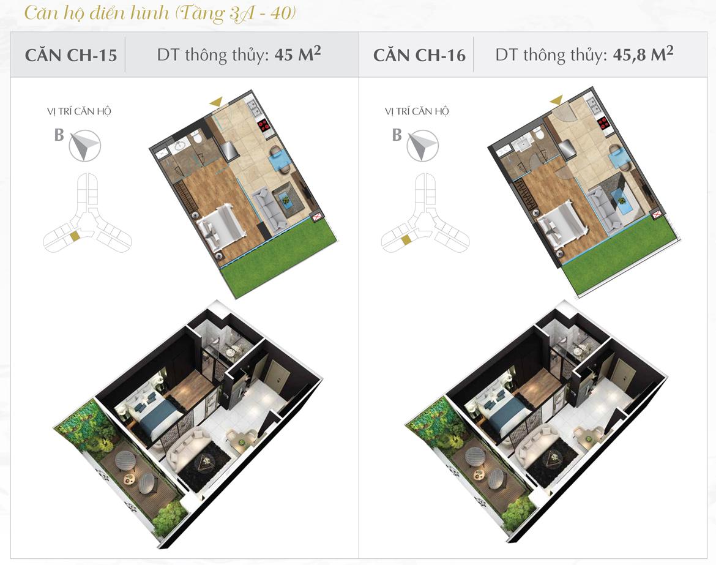 Thiết kế chi tiết căn hộ số 15 và 16 dự án Sunshine Diamond River Quận 7 – Liên hệ 0973.098.890 báo giá căn này