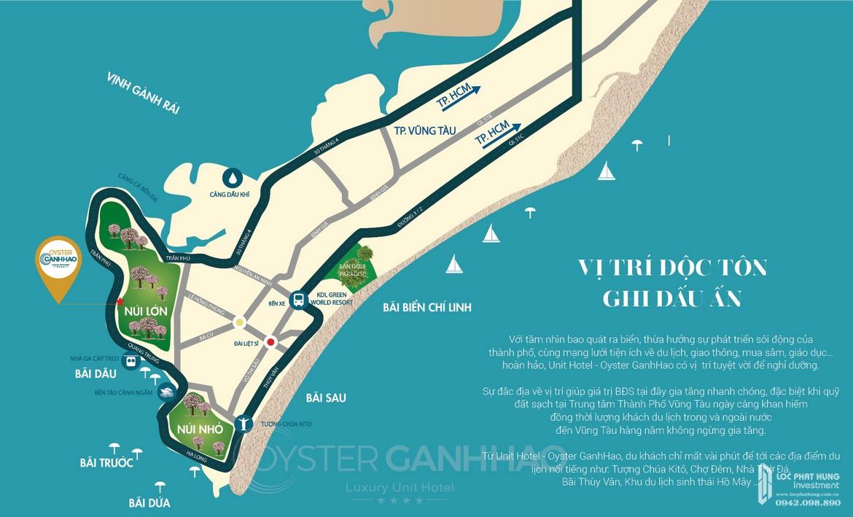 Vị trí địa chỉ dự án căn hộ Condotel Oyster Gành Hào 82 Trần Phú chủ đầu tư Vietpearl Group