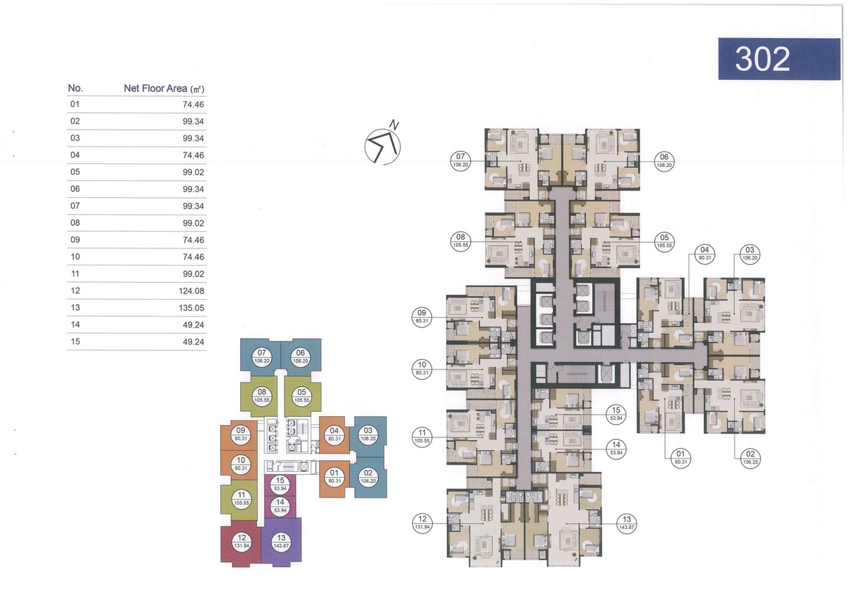 Mặt bằng dự án căn hộ chung cư Laimian City Quận 2 Đường Lương Đình Của chủ đầu tư HDTC