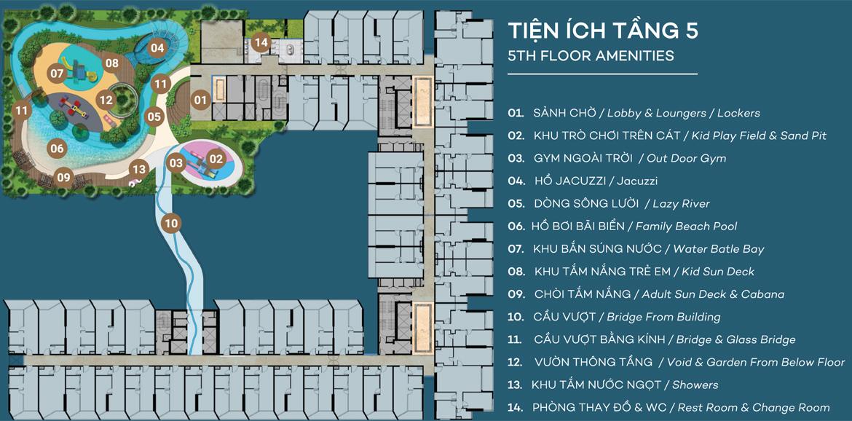 Mặt bằng tầng 4 dự án căn hộ du lịch condotel The Sóng Vũng Tàu