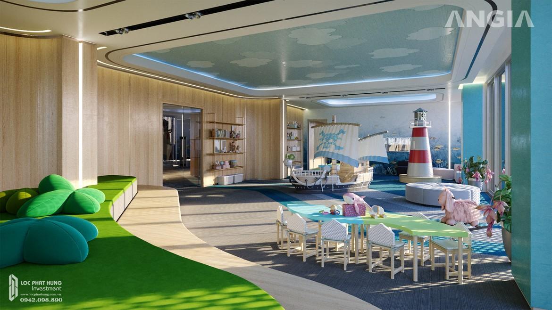 Khu vực vui chơi dành cho trẻ em trong nhà tại căn hộ du lịch condotel The Sóng Vũng Tàu