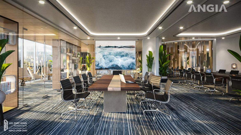 Phòng họp dành cho các đối tác ký kết các sự kiện quan trọng hoặc khu tổ chức buổi hội thảo về sản phẩm mới của công ty và tất cả đều được sử dụng miễn phí tại căn hộ du lịch condotel The Sóng Vũng Tàu