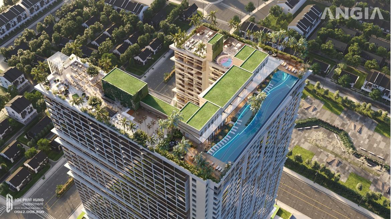 Không gian xanh phủ kín tòa căn hộ du lịch condotel The Sóng Vũng Tàu