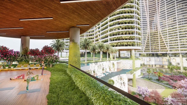 Vườn tập Yoga - thiền tại dự án căn hộ chung cư Sunshine quận 7