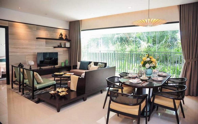 Thiết kế phòng khách căn hộ D'lusso Emerald Quận 2