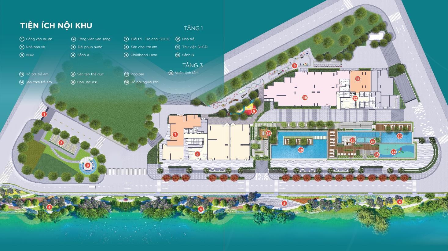 Tiện ích nội khu dự án căn hộ D'lusso Emerald