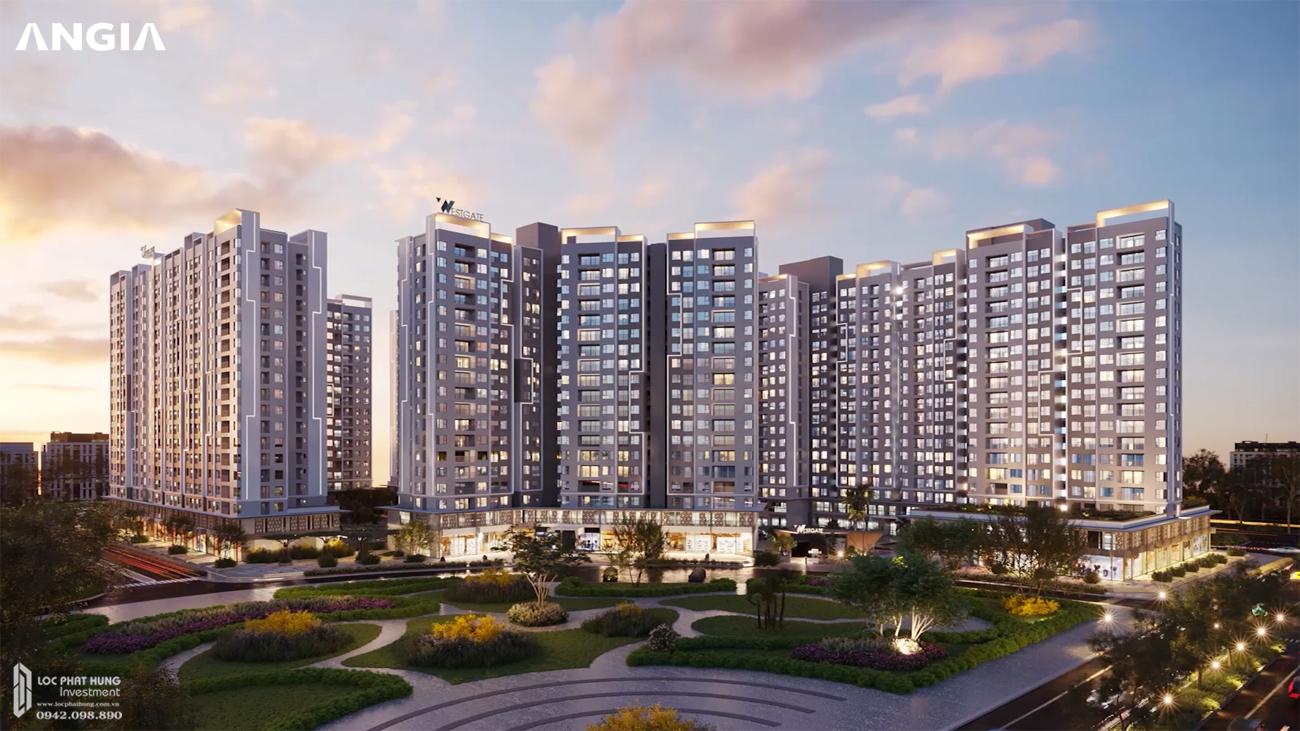 Phối cảnh tổng thể dự án căn hộ chung cư West GAte