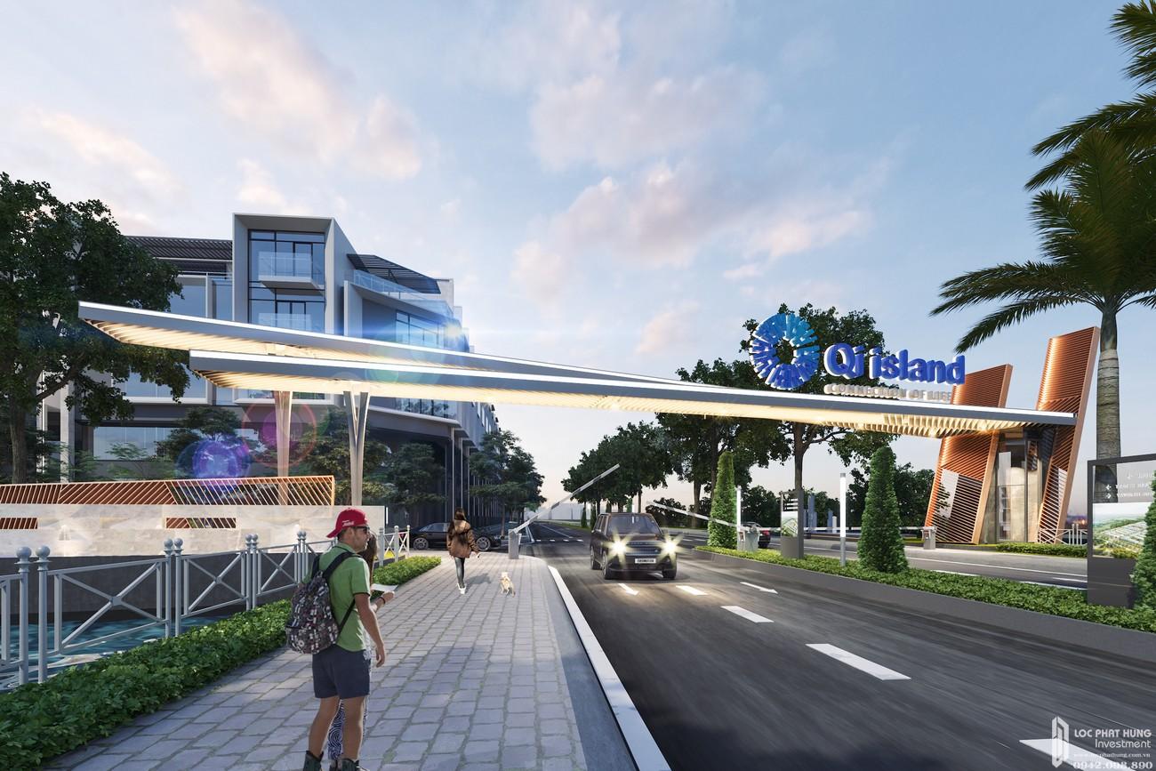 Phối cảnh tổng thể dự án đất nền nhà phố QI Island Bình Dương Đường Ngô Chí Quốc.