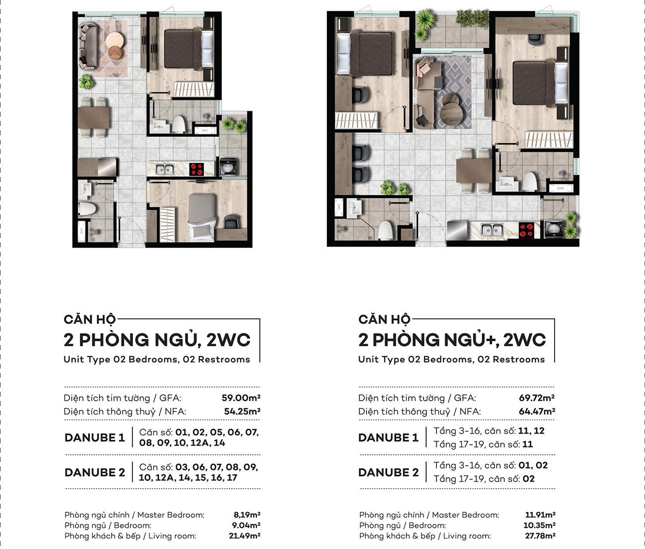 Thiết kế chi tiết căn hộ 2PN,2WC dự án West Gate Bình Chánh – Liên hệ 0942.098.890 nhận báo giá căn hộ này