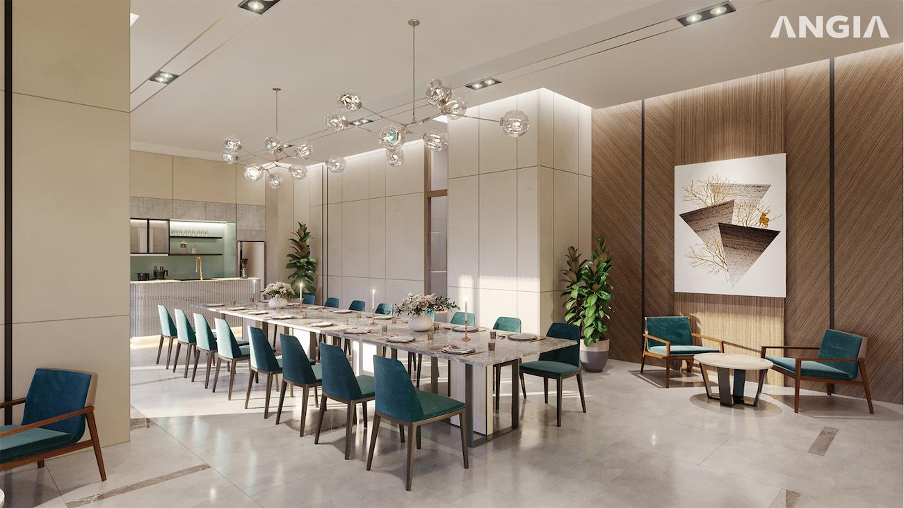 Phòng ăn chung dành cho khách tại dự án West Gate