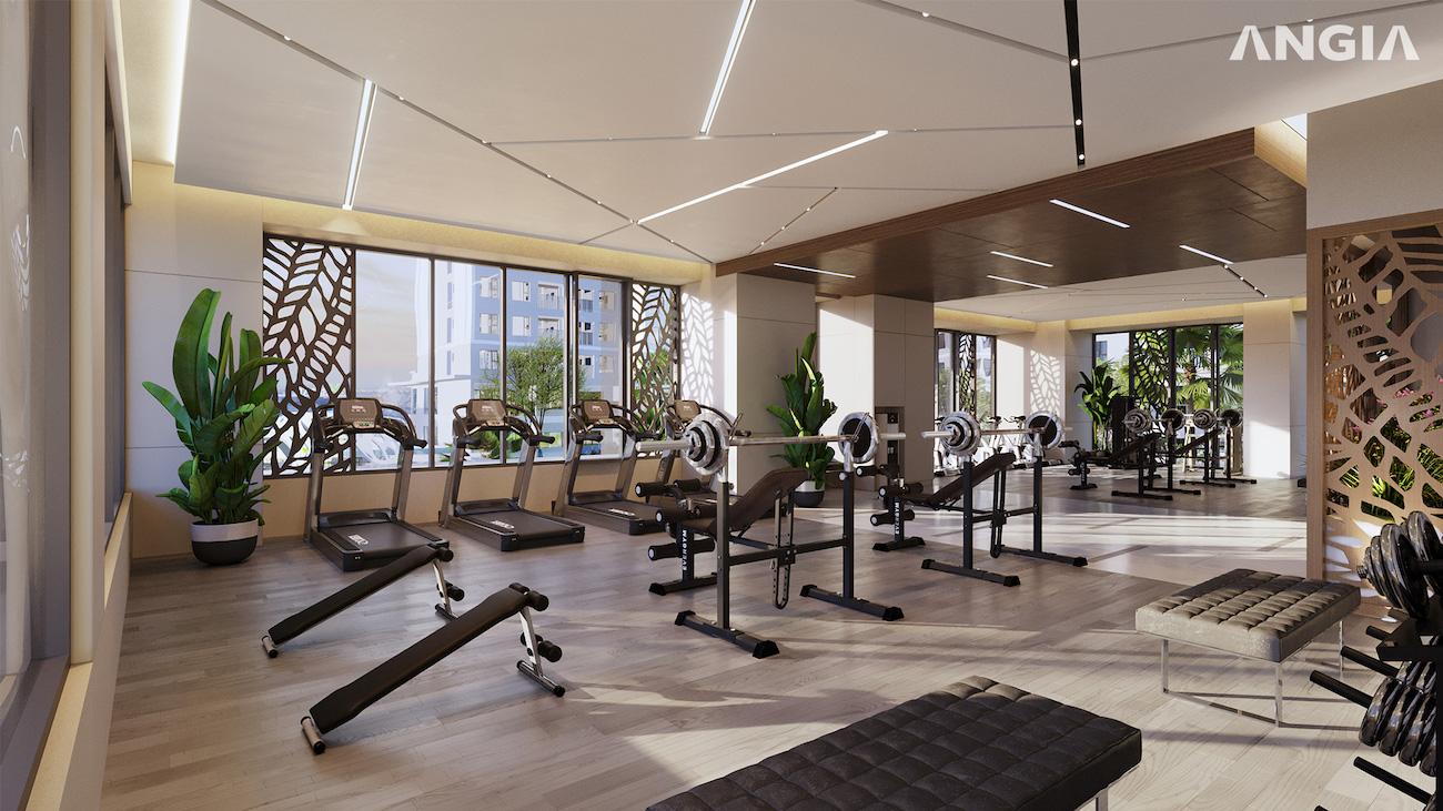 Phòng gym tại tầng trệt dự án West Gate