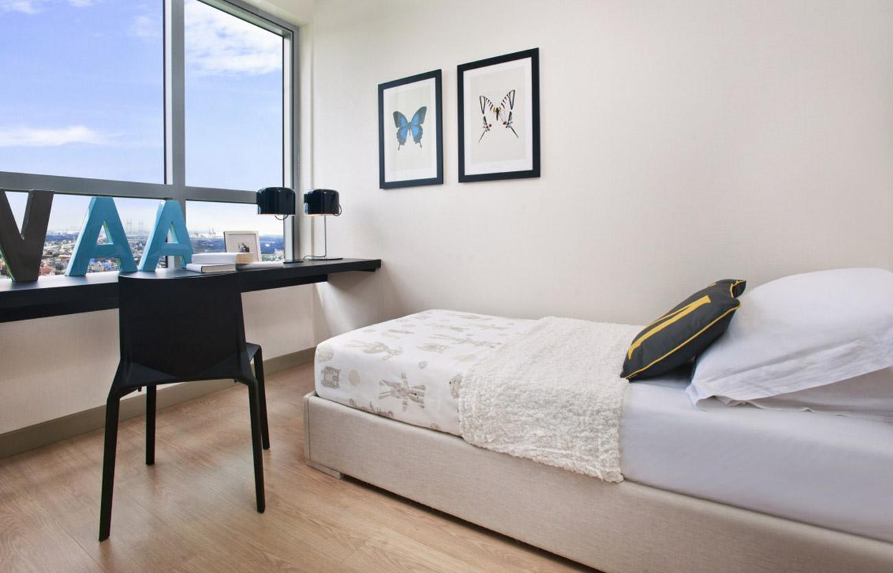 Phòng ngủ nhỏ tại căn hộ 2 Phòng ngủ Riviera Point