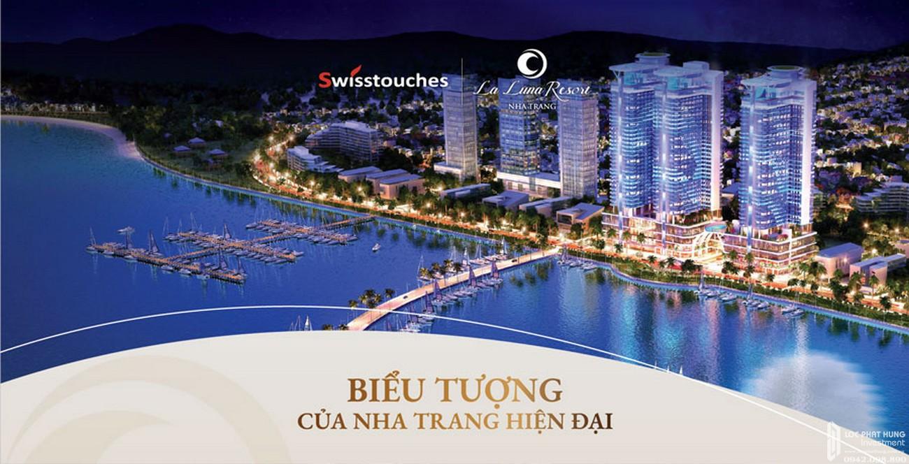 Phối cảnh tổng thể dự án condotel La Luna Nha Trang