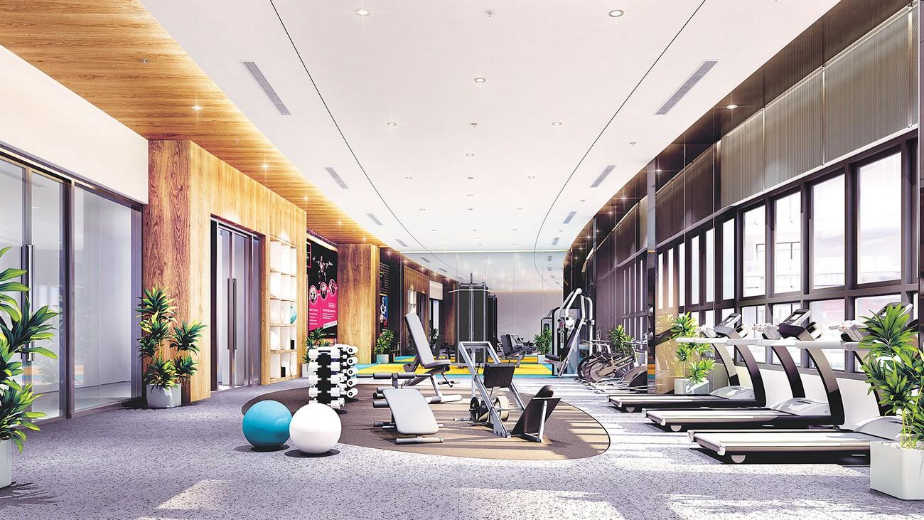 Phòng Gym dự án căn hộ chung cư Phú Đông Sky Garden Dĩ An Đường Đào Trinh Nhất chủ đầu tư Phú Đông Group