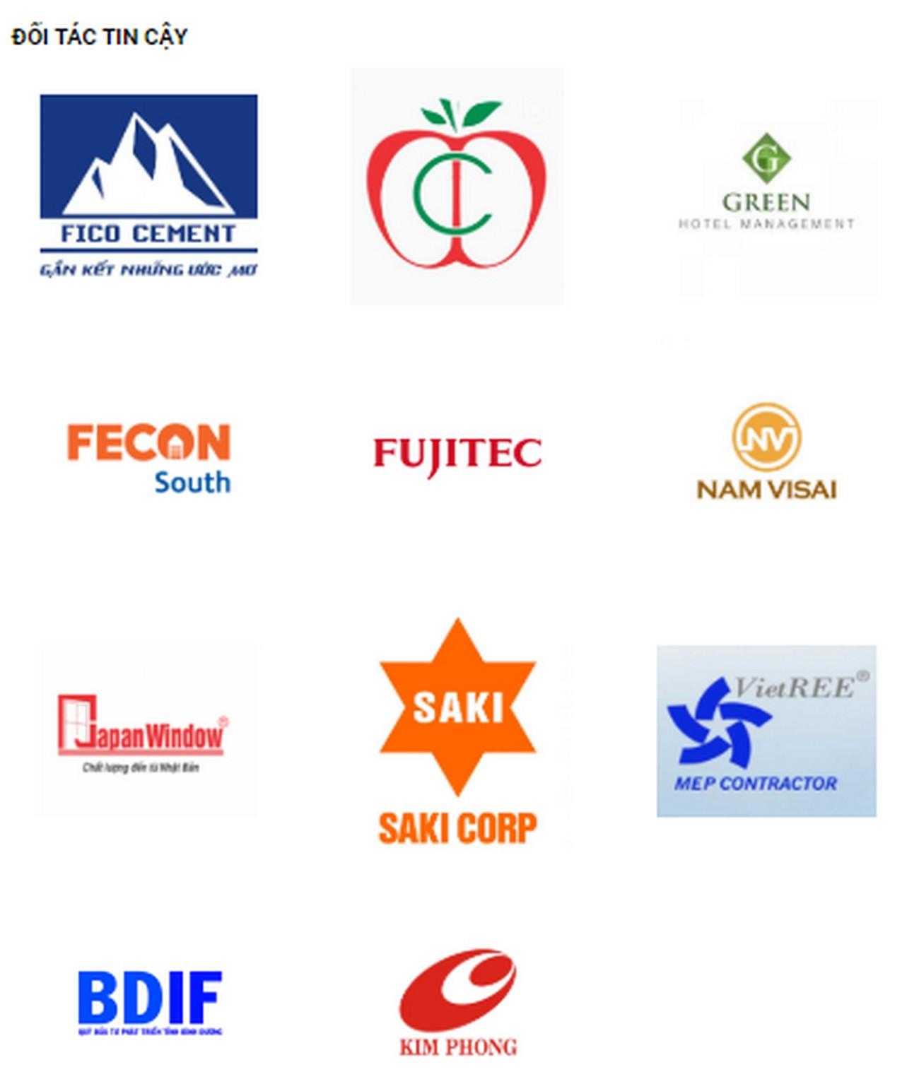 Các đối tác của Công ty BCONS