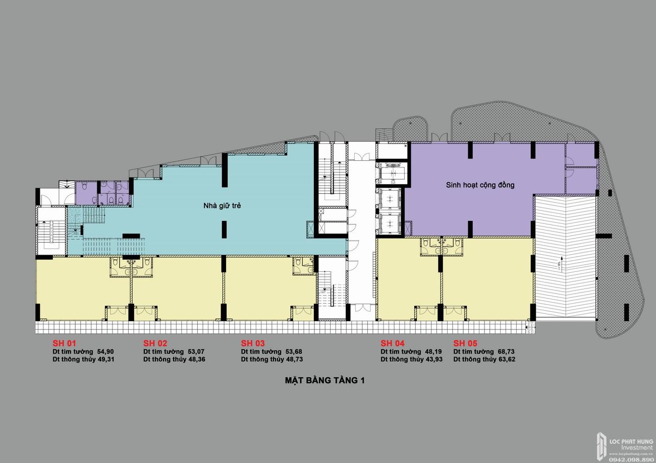 Mặt bằng dự án căn hộ chung cư Bcons Bee Dĩ An Đường Trần Đại Nghĩa chủ đầu tư Bcons