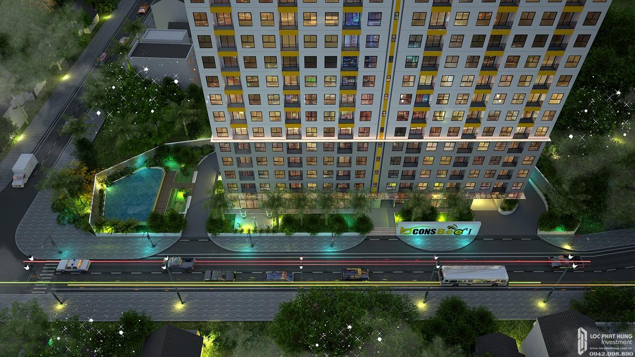 Phối cảnh tổng thể dự án căn hộ chung cư Bcons Bee Dĩ An Đường Trần Đại Nghĩa chủ đầu tư Bcons
