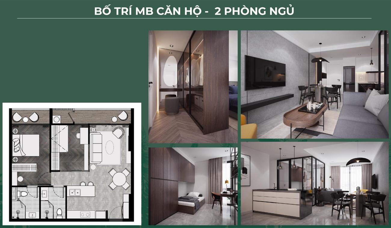 Thiết kế loại 2 phòng ngủ dự án căn hộ chung cư Anderson Park Bình Dương