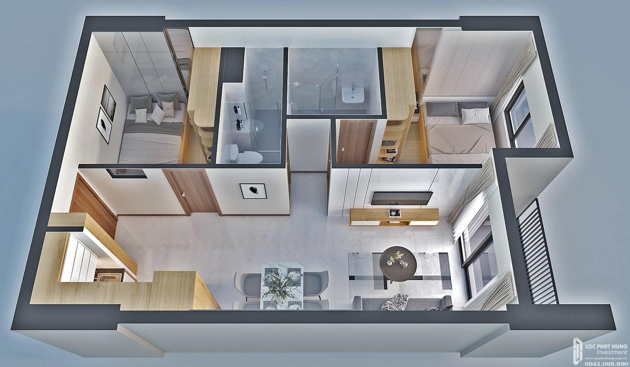 Thiết kế căn hộ loại G Bcons Bee Dĩ An Đường Trần Đại Nghĩa chủ đầu tư Bcons
