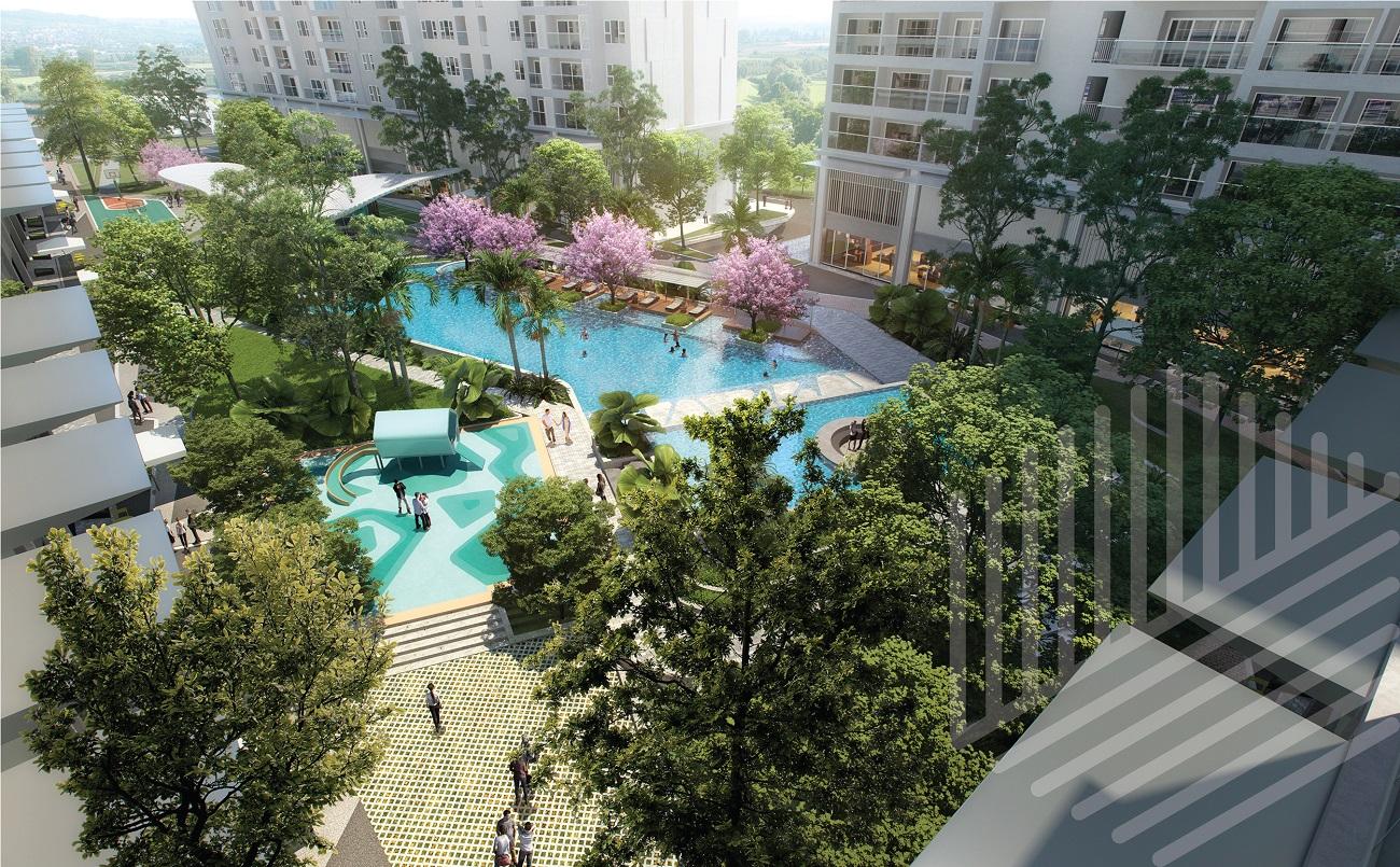 Tiện ích hồ bơi dự án căn hộ chung cư Anderson Park Bình Dương