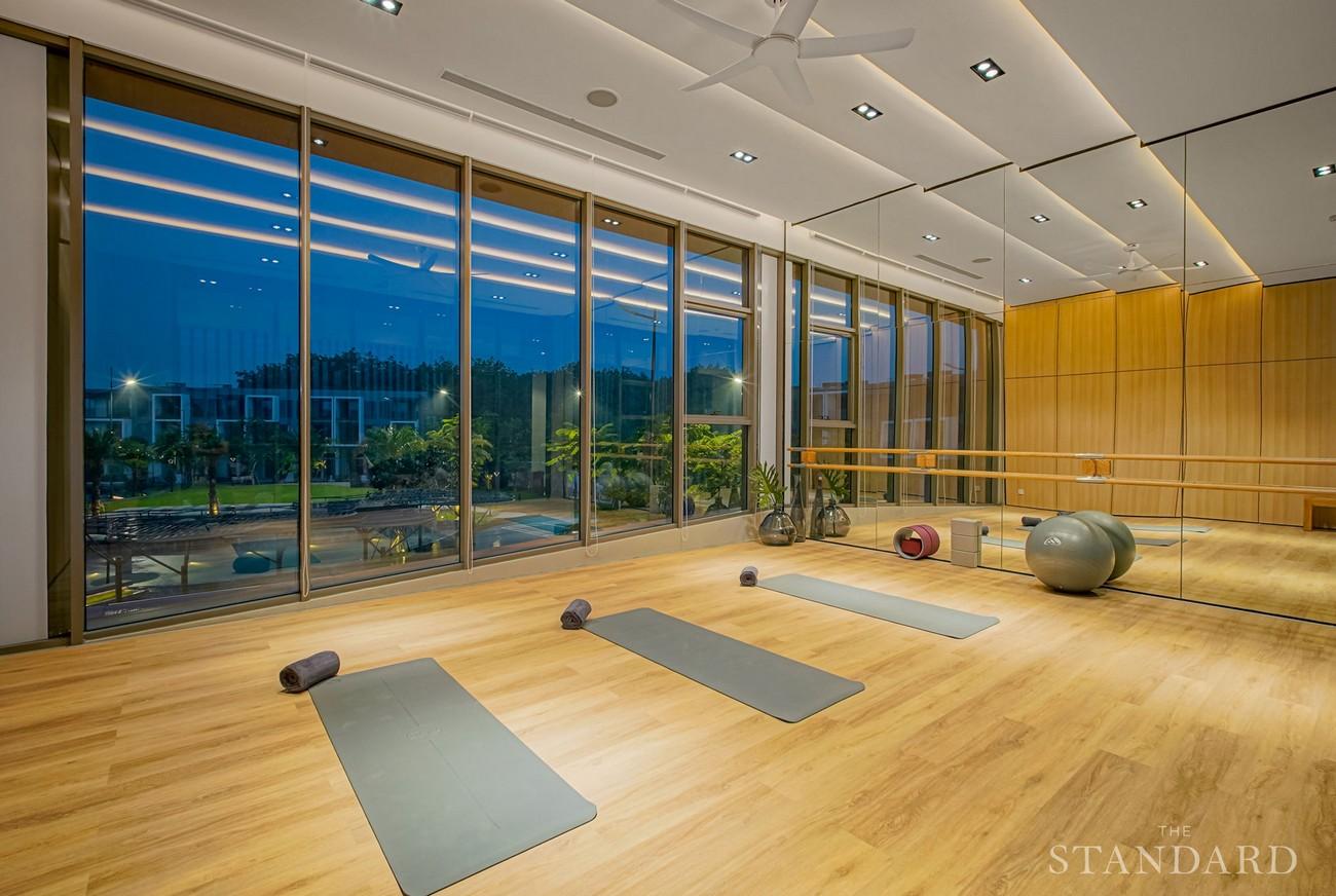Hình ảnh thực tế tiện ích phòng Yoga dự án nhà phố The Standar Central Park Tân Uyên Bình Dương