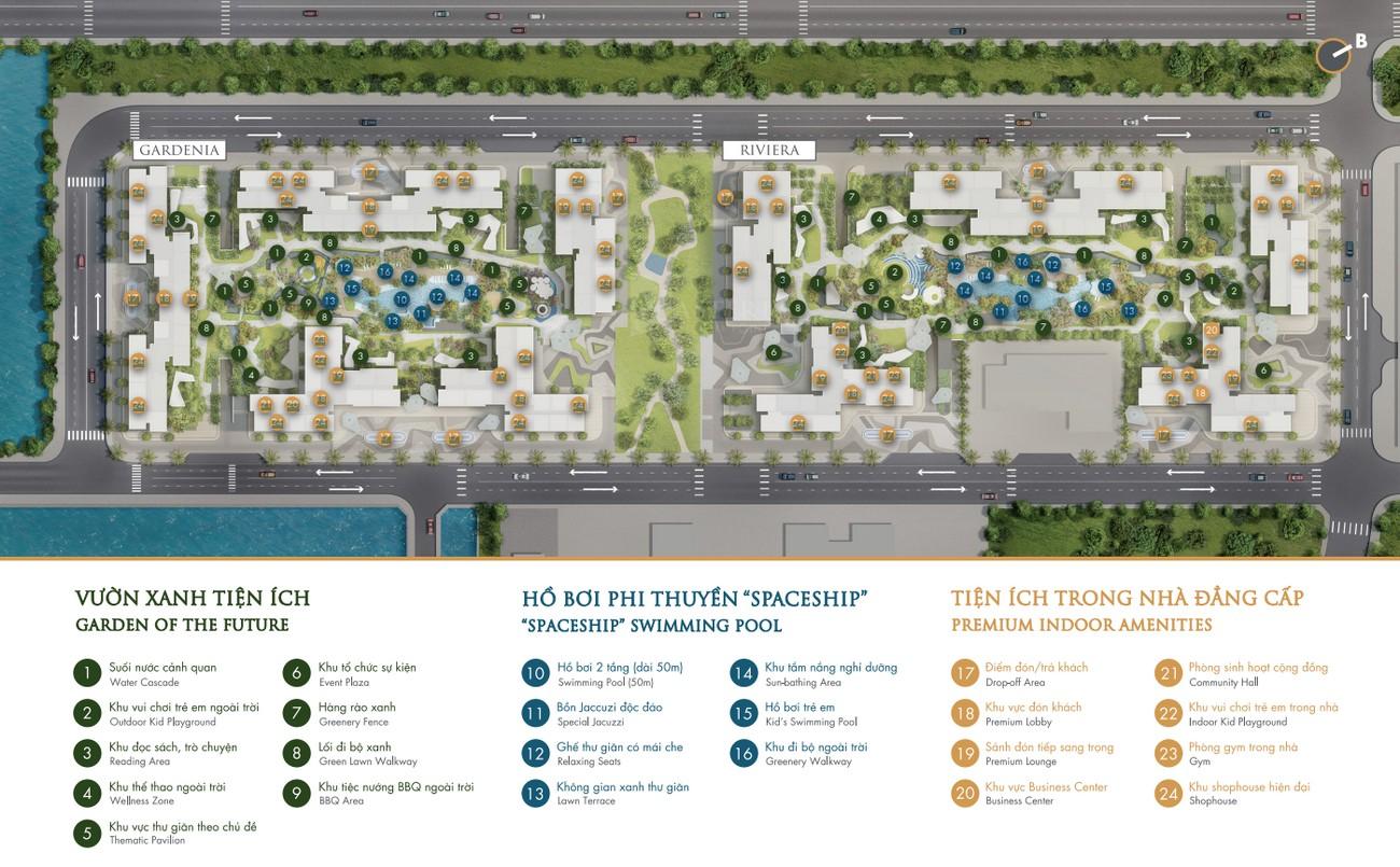 Mặt bằng dự án căn hộ chung cư Masterise Centre Point Quận 9 Đường Nguyễn Xiển chủ đầu tư Vingroup