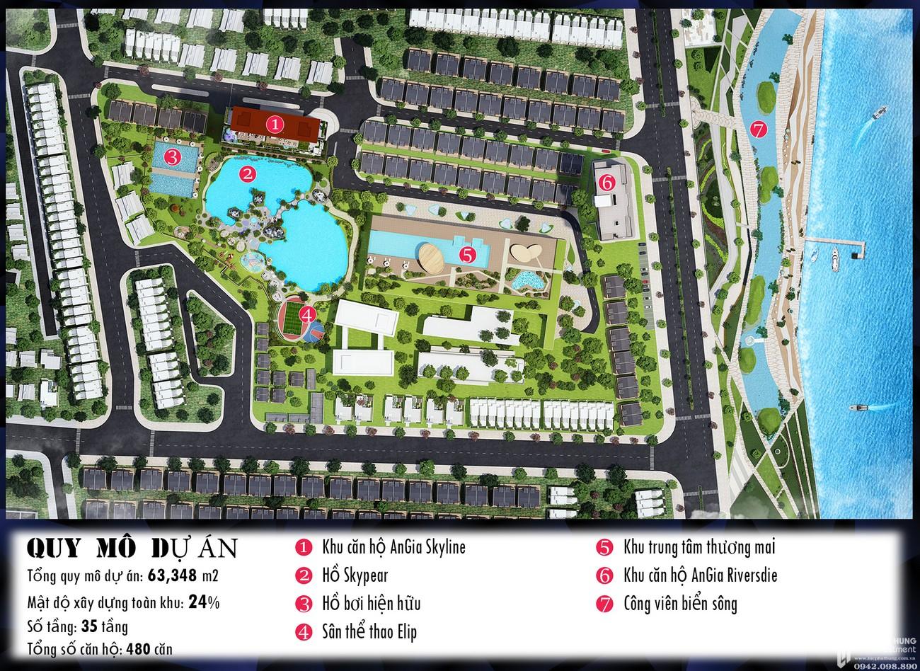 Mặt bằng tổng thể dự án căn hộ chung cư Skyline Quận 7 Đường Hoàng Quốc Việt chủ đầu tư An Gia
