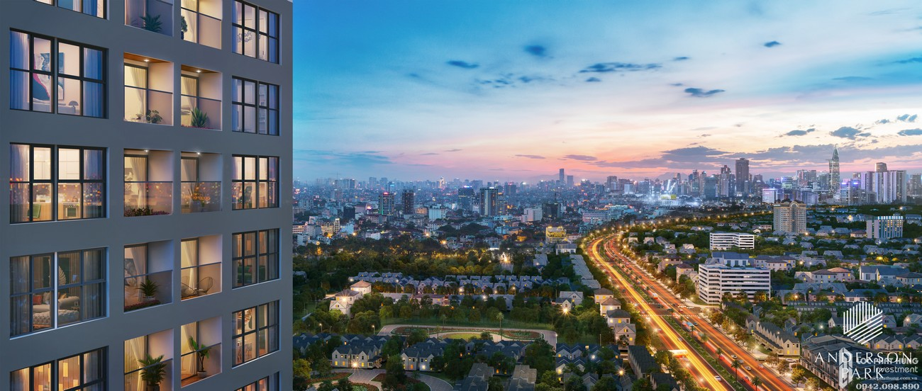 Phối cảnh tổng thể dự án căn hộ chung cư Anderson Park Thuận An Bình Dương