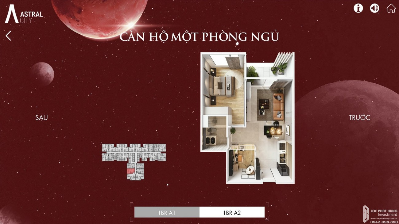 Thiết kế chi tiết căn hộ Astral City Thuận An Đường Quốc lộ 13 chủ đầu tư Phát Đạt Group