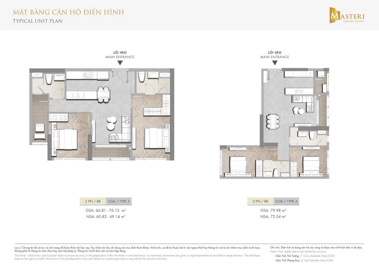 Thiết kế dự án căn hộ chung cư  Masteri Centre Point Quận 9 Đường Nguyễn Xiển chủ đầu tư Vingroup