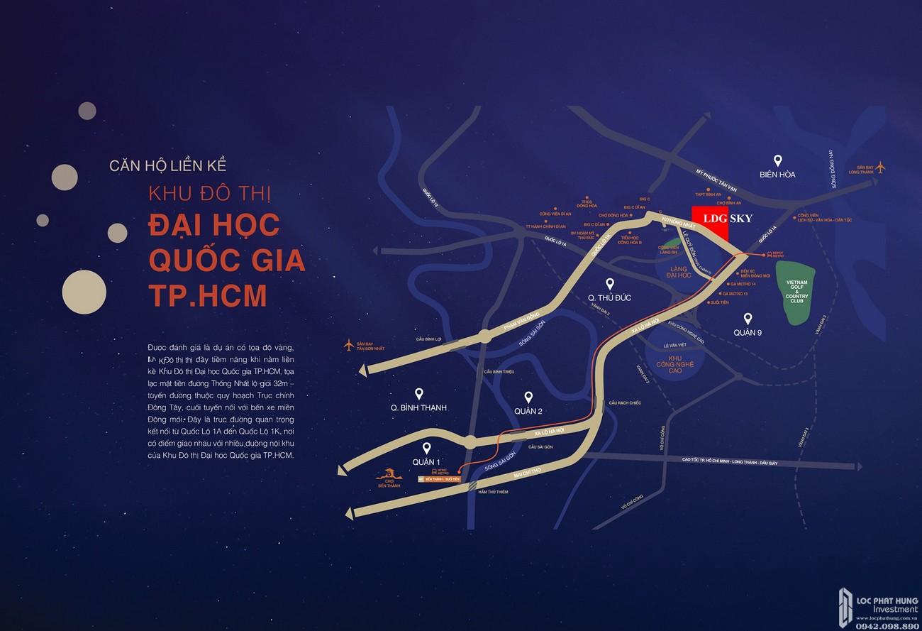 Vị trí địa chỉ dự án căn hộ chung cư LDG Sky Bình Dương chủ đầu tư LDG Group