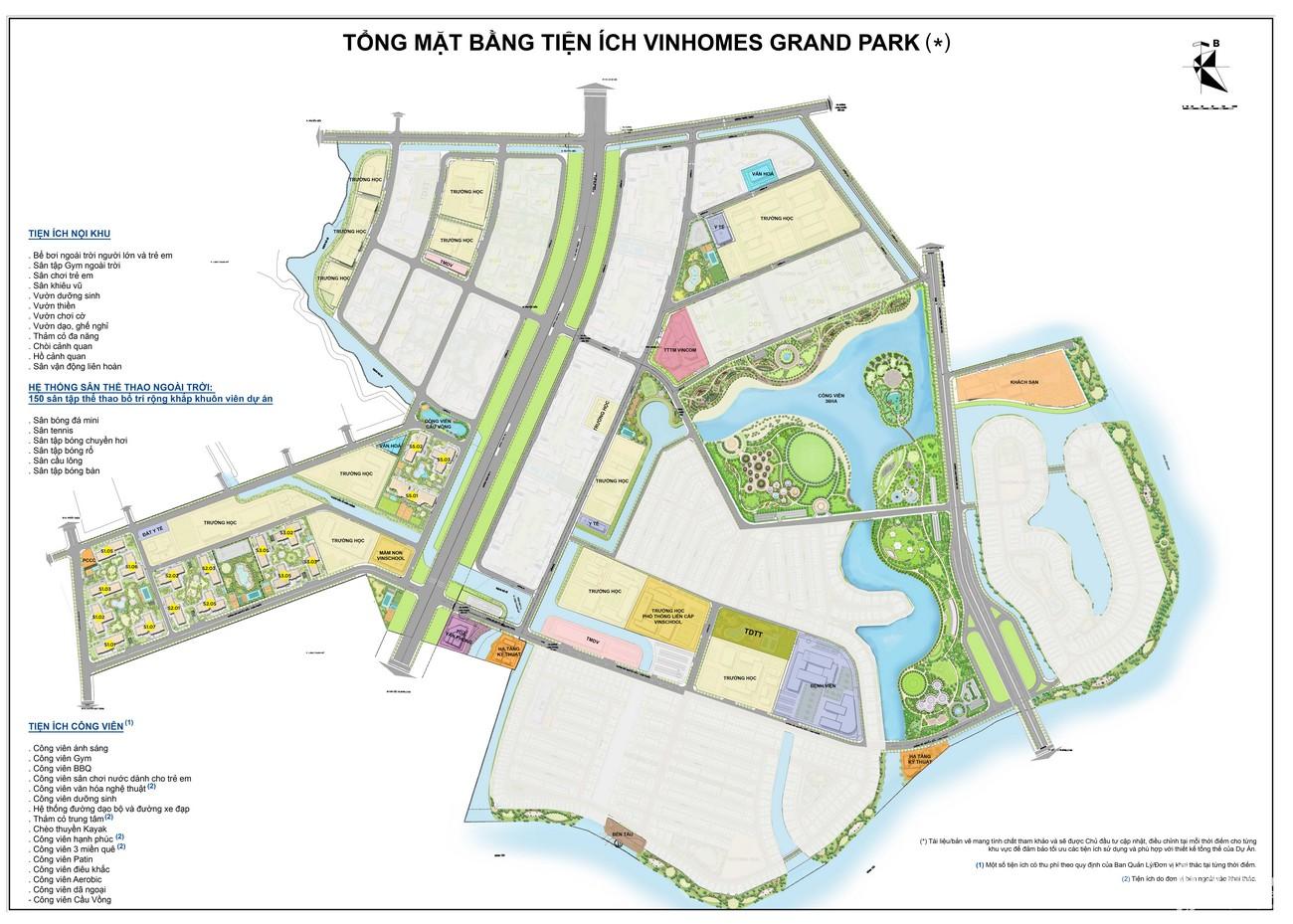 Mặt bằng dự án căn hộ chung cư Vinhomes Grand Park Quận 9 Đường Nguyễn Xiển chủ đầu tư Vingroup