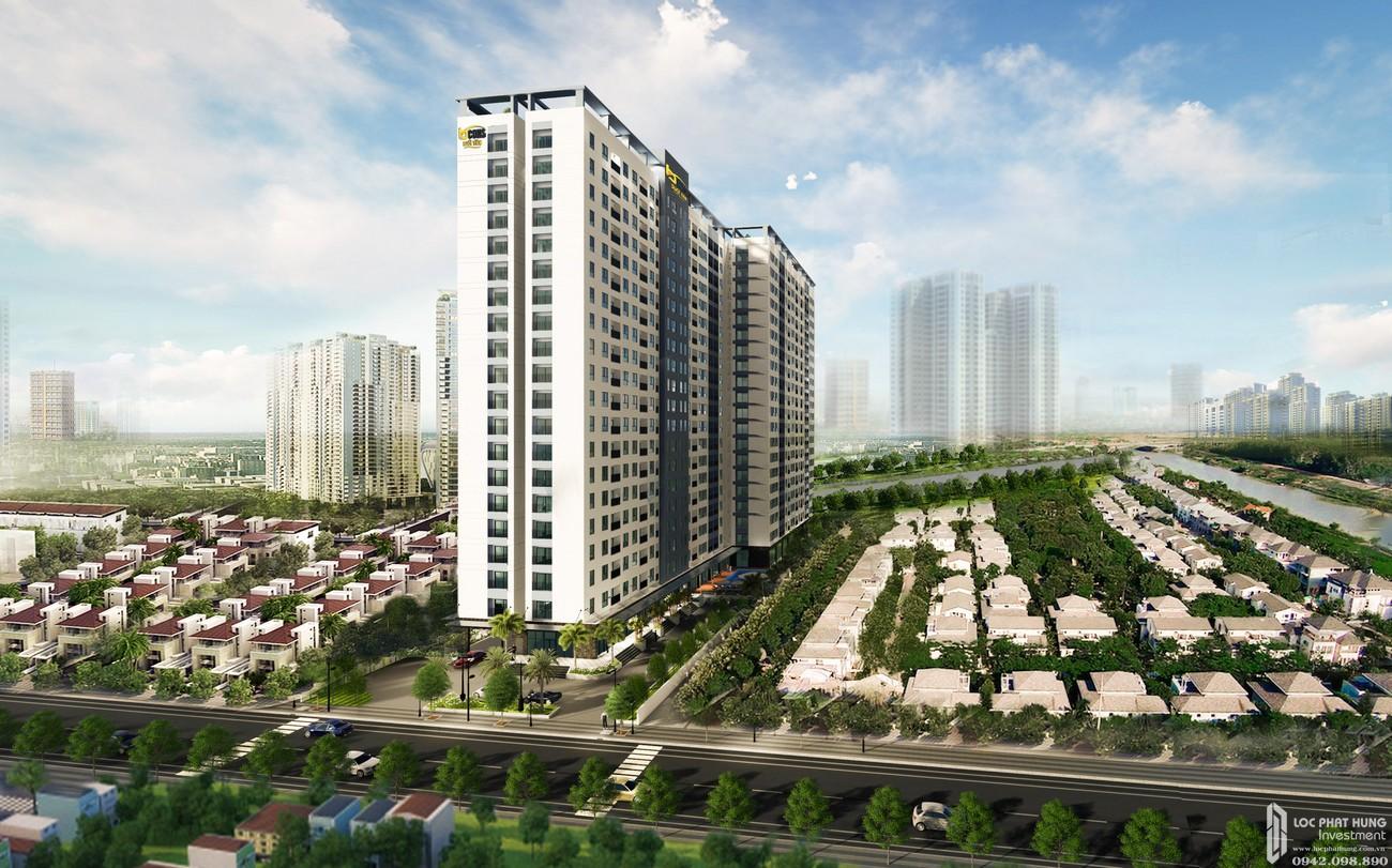 Phối cảnh tổng thể dự án căn hộ chung cư Bcons City Dĩ An Đường Thống Nhất chủ đầu tư Bcons