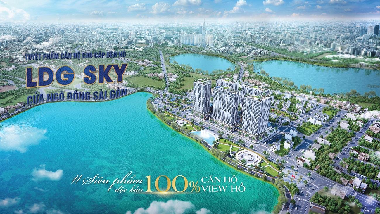 Phối cảnh tổng thể dự án căn hộ chung cư LDG Sky Dĩ An Bình Dương