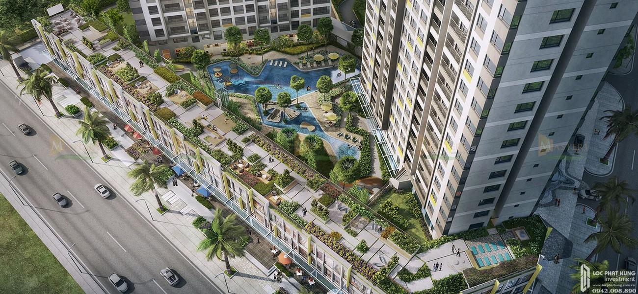 Phối cảnh tổng thể dự án căn hộ chung cư Masteri An Phú Quận 2 Đường 179 Xa lộ Hà Nội chủ đầu tư Masterise Homes