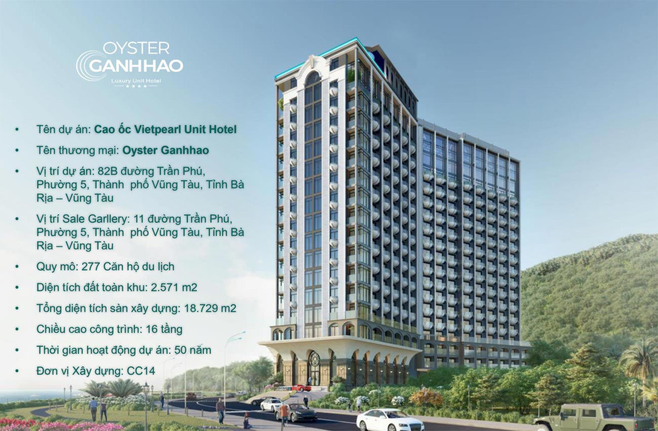 Phối cảnh tổng thể dự án căn hộ nghĩ dưỡng Oyster Gành Hào Vũng Tàu