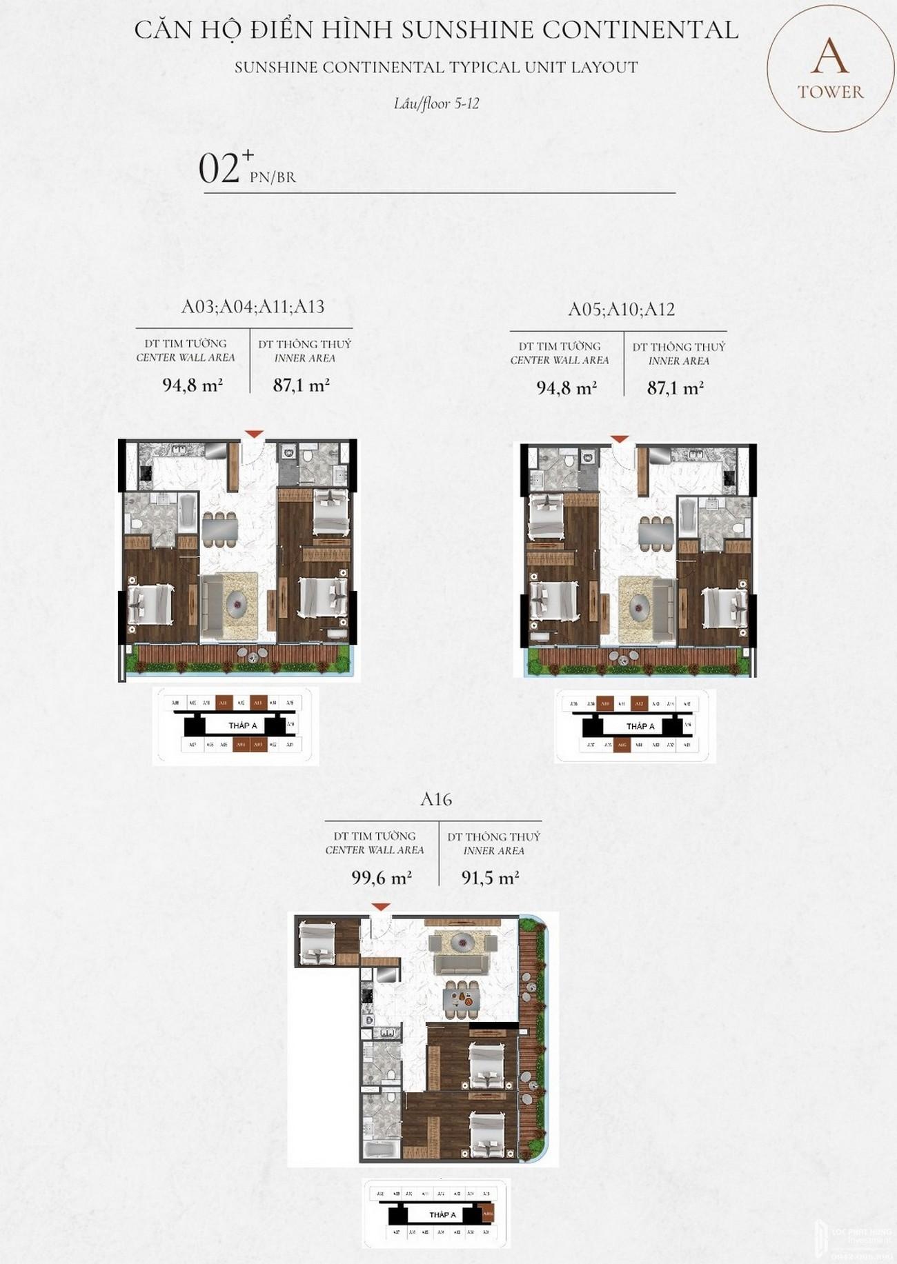 Thiết kế dự án căn hộ chung cư Sunshine Continental Quận 10 Đường Tô Hiến Thành chủ đầu tư Sunshine Group
