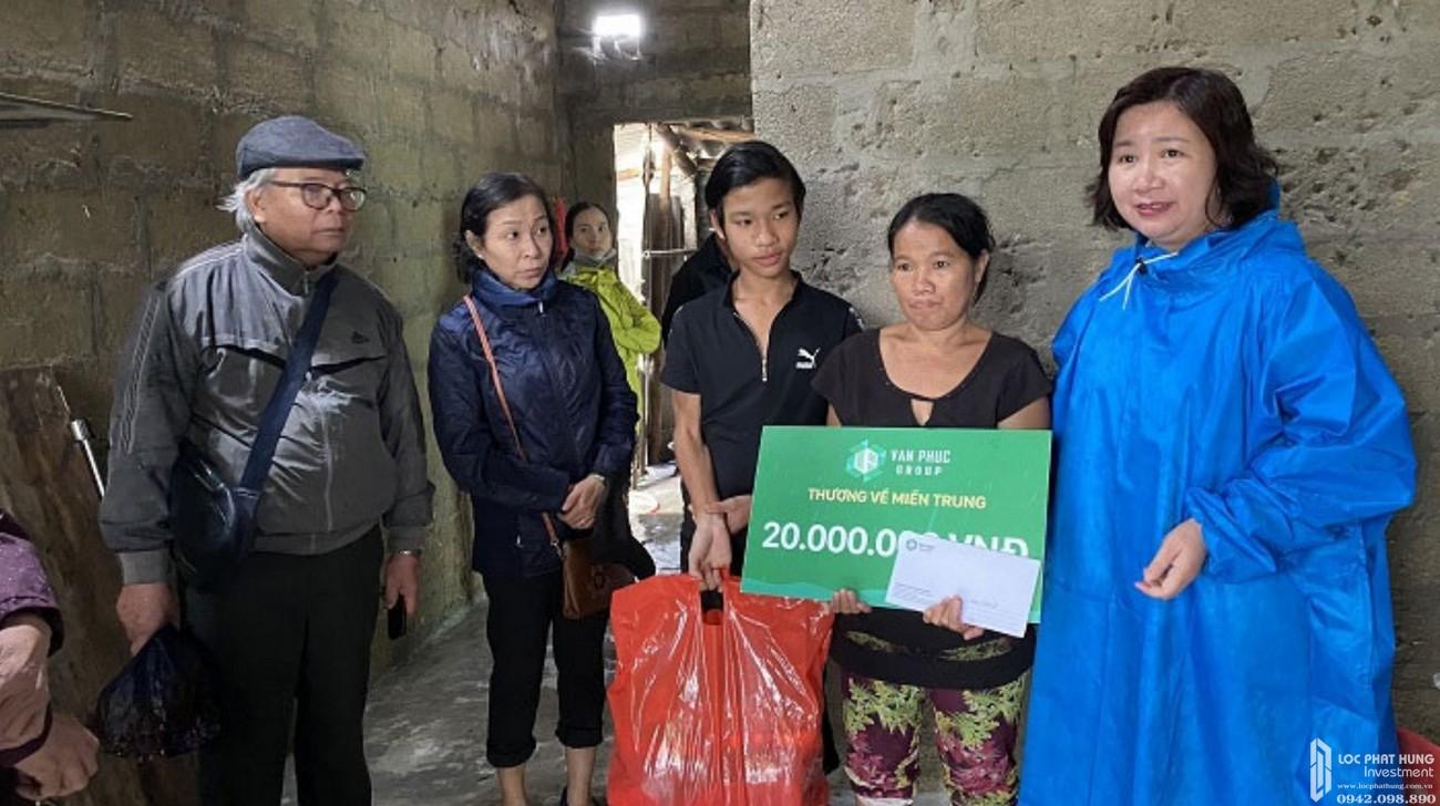 Chủ đầu tư dự án Khu đô thị Vạn Phúc City ủng hộ hơn 3 tỷ đồng tới các tỉnh miền Trung
