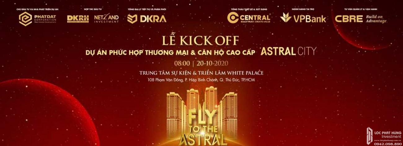 Lễ Kick off dự án Astral City Bình Dương sẽ diễn ra vào ngày 20/10/2020