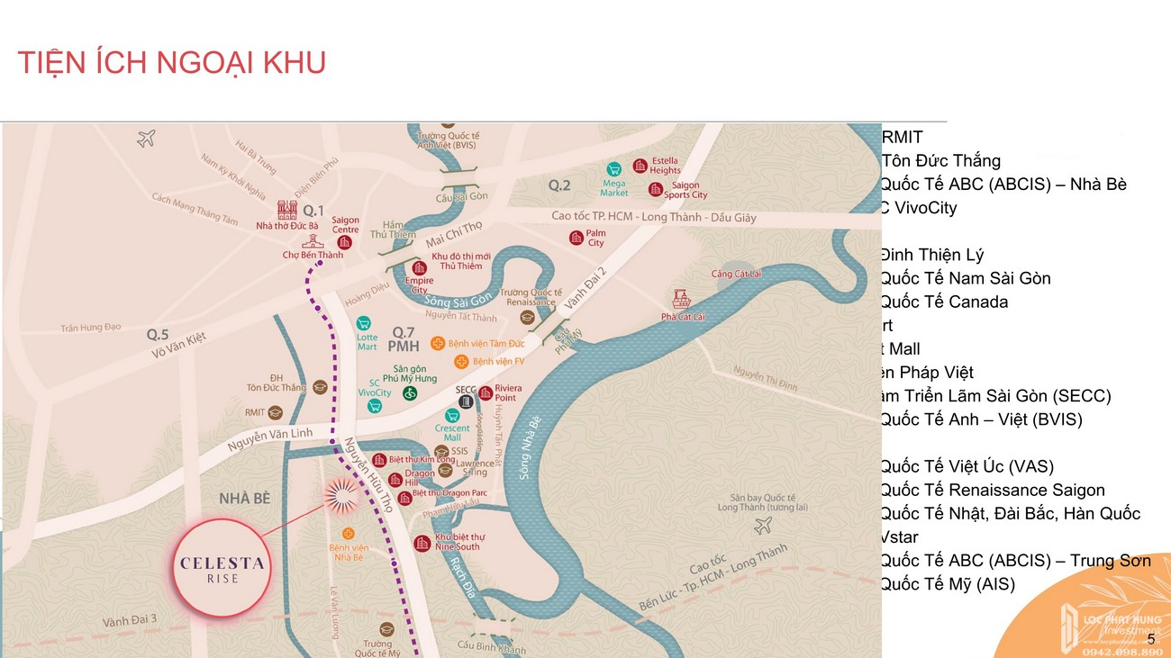 Tiện ích dự án căn hộ chung cư Celesta Rise Nhà Bè Đường Nguyễn Hữu Thọ chủ đầu tư Keppel Land