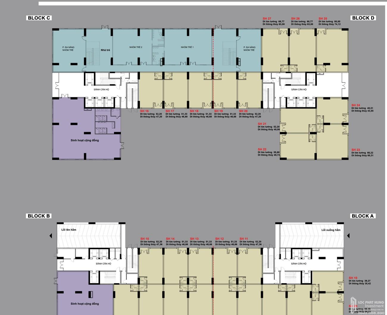 Mặt bằng tầng 1 dự án BCONS PLAZA