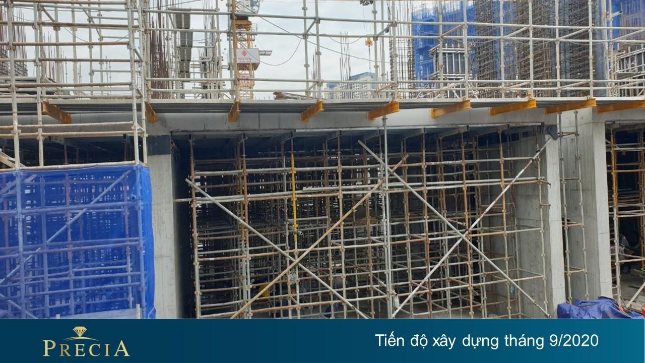 Tiến độ dự án căn hộ chung cư Precia Quận 2 tháng 9/2020 Đường Nguyễn Thị Định chủ đầu tư Minh Thông