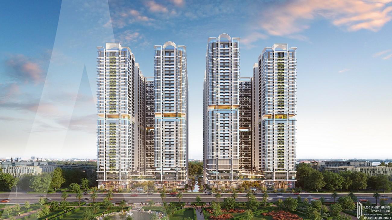 Phối cảnh tổng thể dự án căn hộ Astral City Thuận An Đường Quốc lộ 13 chủ đầu tư Phát Đạt Group